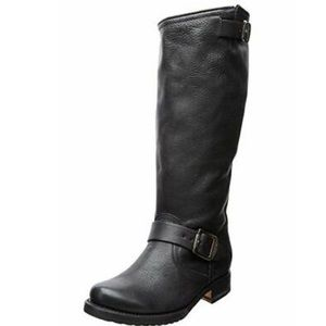 FRYE Womens Veronica Slouch Boot: Black Leather